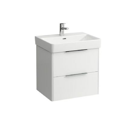 810963 - Laufen Pro S 600mm x 465mm Washbasin (1TH) & Base Vanity Unit - 8.1096.3